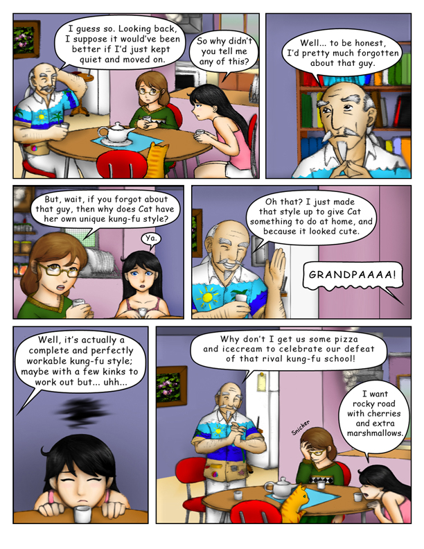 """""""Birth of the Cat Kung Fu"""" Page 7"""